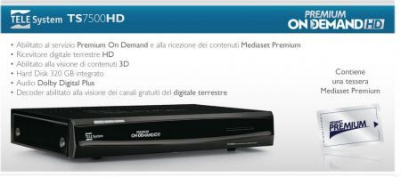 TELE System TS 7500HD 3D: digitale terrestre HD per TV e film tridimensionali