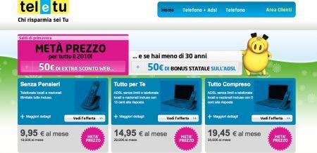 Incentivi banda larga: le offerte di TeleTu dal 15 Aprile 2010