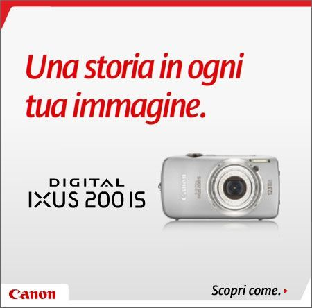 Canon Digital IXUS 200 IS: CCD da 12,1 MPX, zoom ottico 5X e video HD