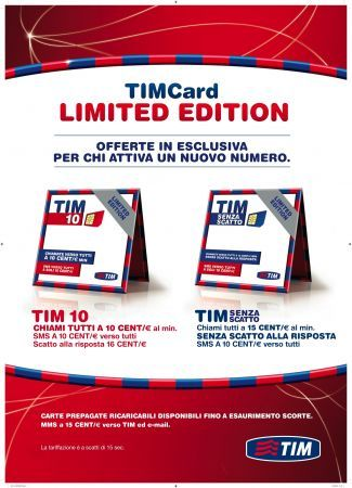 Tim Card Limited Edition per i nuovi clienti