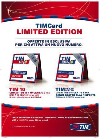 Tim Card Limited Edition per i nuovi clienti