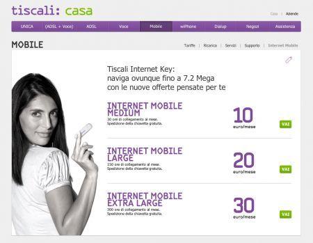 Tiscali Internet Mobile: le offerte per navigare fino a 7,2 mega