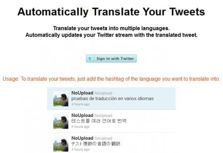 Translate Twitter Tweets: tradurre i propri messaggi Twitter in numerose lingue