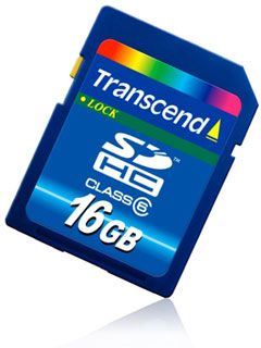 Trascend SDHC Class 6 16GB