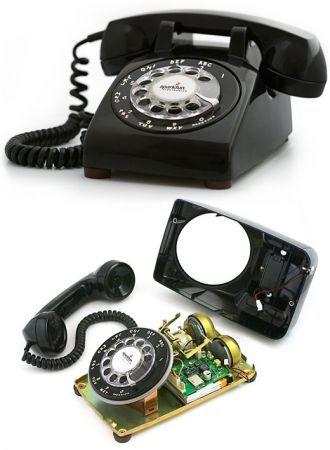 Un telefono a rotella vintage per le nostre chiamate mobile