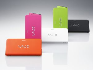 Sony Vaio Serie P: mini-notebook colorato con accelerometro