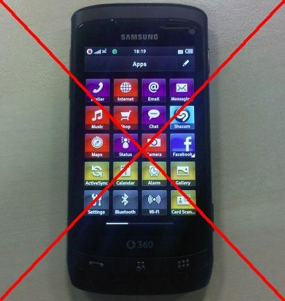 Samsung I8330 H2 Vodafone 360: alcune specifiche tecniche