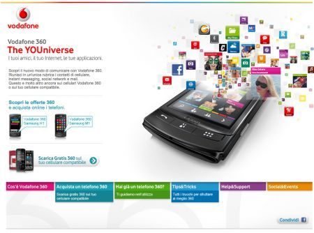 Vodafone 360: disponibile su 10 nuovi cellulari