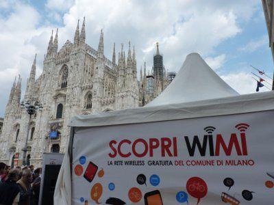 Con WiMi a Milano la rete internet Wi-Fi è Gratis