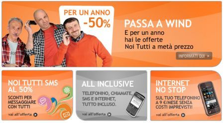 Offerte e promozioni con Passa a Wind, Noi Tutti Pack e Internet Restart