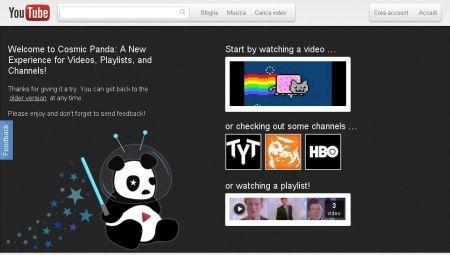 Youtube si aggiorna e diventa Cosmic Panda