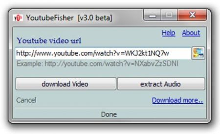 YoutubeFisher: estrarre audio e video da YouTube