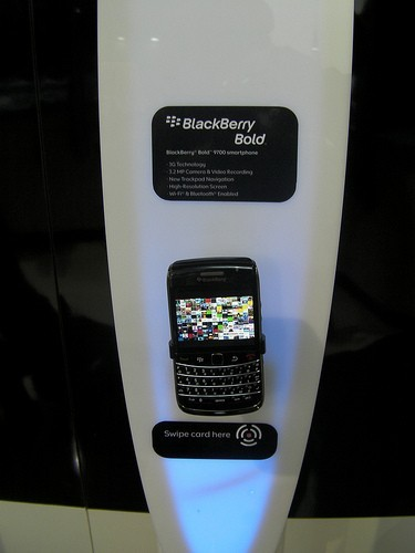 Stand BlackBerry all'MWC 2010 di Barcellona