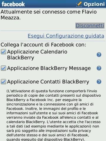Facebook per BlackBerry 1.7: la nostra recensione
