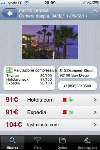 Trivago, la pagina dell'hotel
