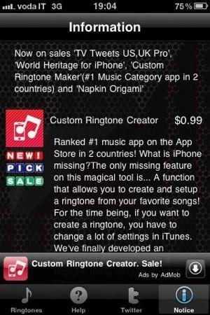 Custom Ringtone Creator Max, informazioni di base