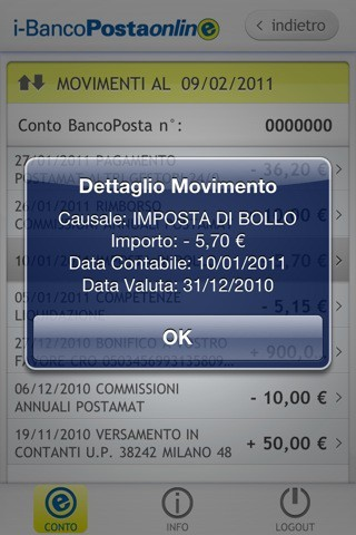 App Poste Italiane screenshots