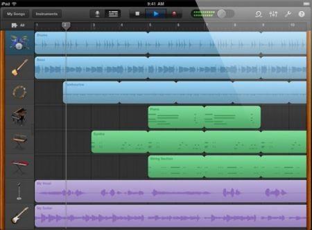 GarageBand per iPad editor