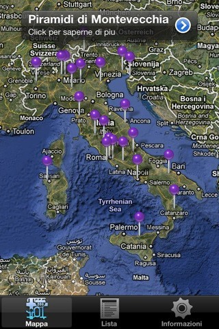 Misteri Misteriosi Italia, la mappa