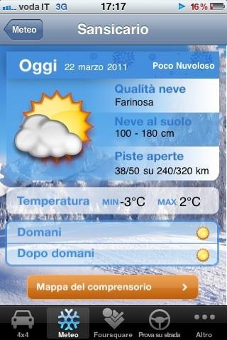 Fiat Snow, il meteo