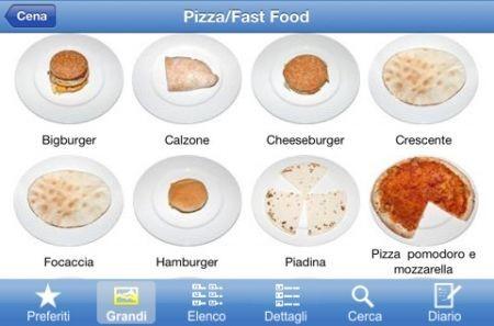 M�tadieta mobile, le foto degli alimenti