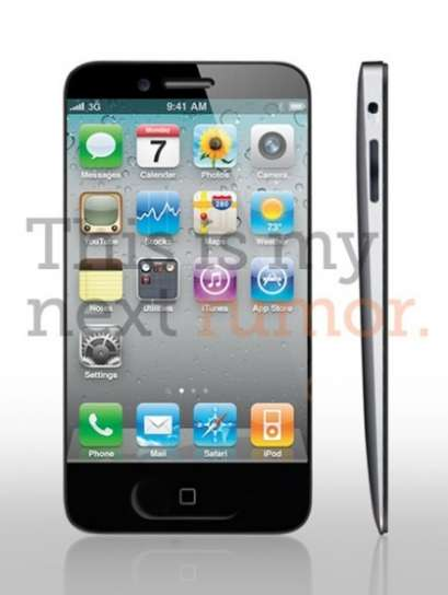 Mockup iPhone 5, simile all'iPad 2