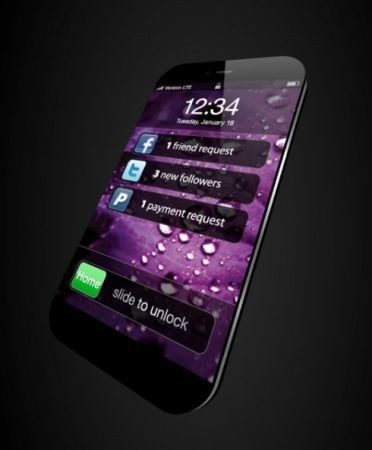 Mockup iPhone 5, futuristico