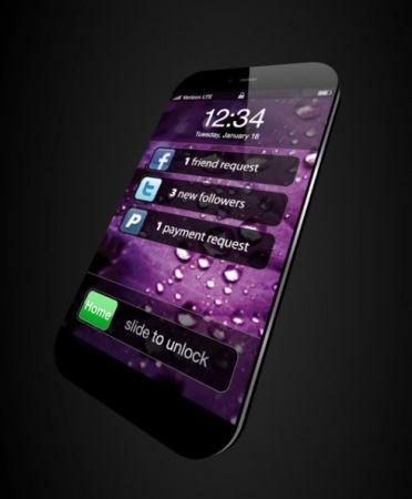 Mockup iPhone 5, futuristico