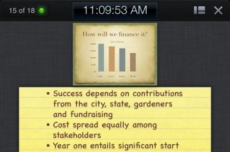 iWork, presentazione Keynote