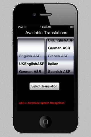 SpeechTrans Ultimate, l'app ufficiale come appare ora