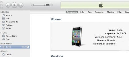 Sincronizzare iTunes, l'iPhone