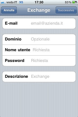 Sincronizzare iPhone con Gmail, i dati