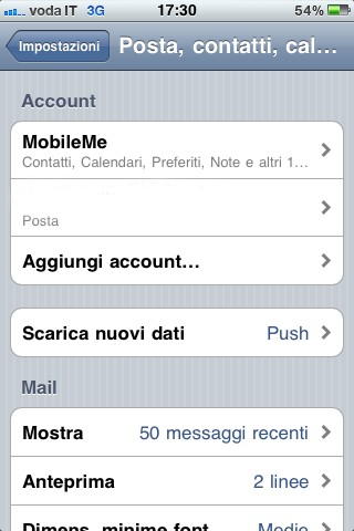 Sincronizzare iPhone con Gmail, gli account