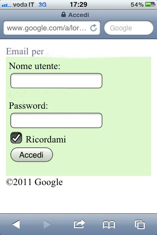Sincronizzare iPhone con Gmail, la Web app