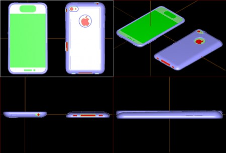 Mockup iPhone 5, anteprima CAD della custodia
