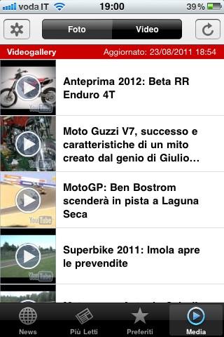 Next Moto, i video