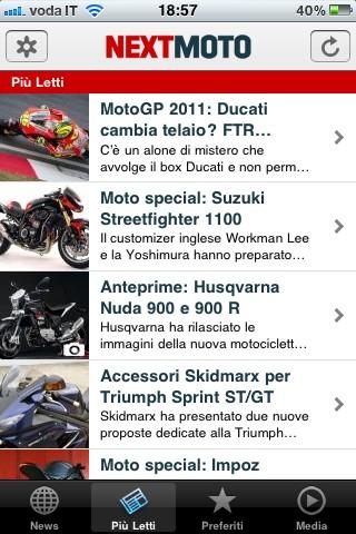 Next Moto, le notizie pi� lette