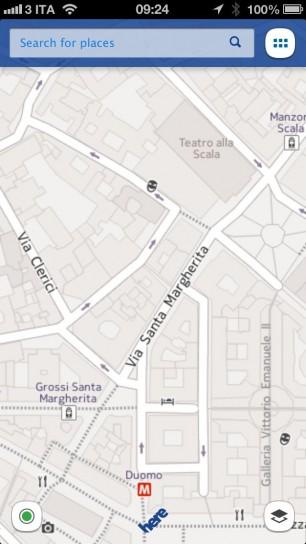 Nokia Here Maps - Mappa
