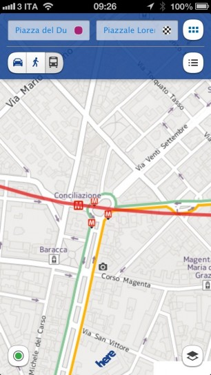 Nokia Here Maps - Traffico