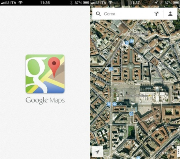 Google Maps vs Apple Mappe, il confronto [FOTO]