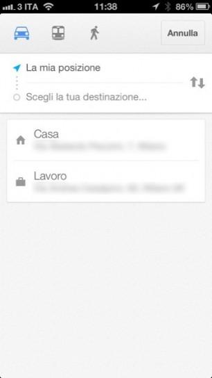 Google Maps - Destinazioni personali e POI