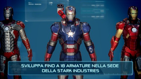 Iron Man 3 - Fino a 18 armature