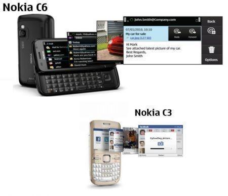 nokia C3 e Nokia C6