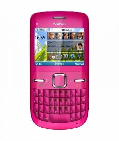 nokia C3 versione pink frontale