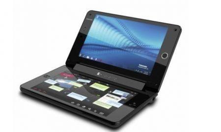 Toshiba Libretto W100: doppio schermo touchscreen da 7 pollici