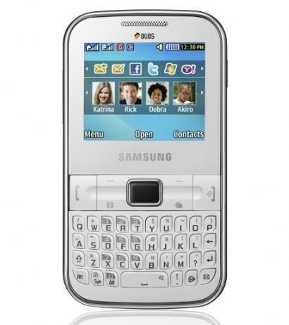 Samsung Ch@t 322: cellulare Dual Sim con tastiera Full QWERTY