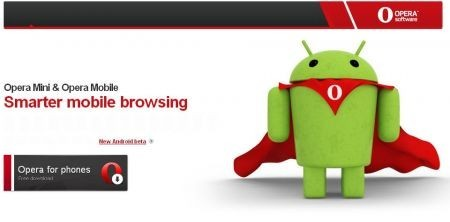 Al download Opera Mobile 10.1 beta per Android