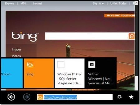 Windows 8 interfaccia Tablet UI