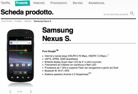 Lg Optimus Dual e Google Nexus S: prezzi e tariffe con 3 Italia