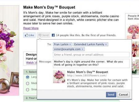 Facebook pulsante Invia